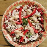 Mushroom-onion-pepper-topping